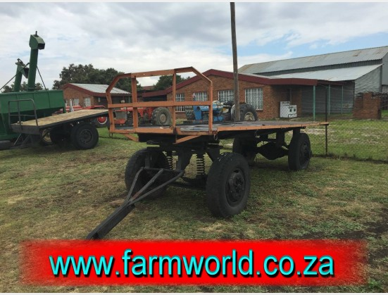 S853 Pre-Owned Double Axle Farming Trailer / Plaas Wa Dubbel As