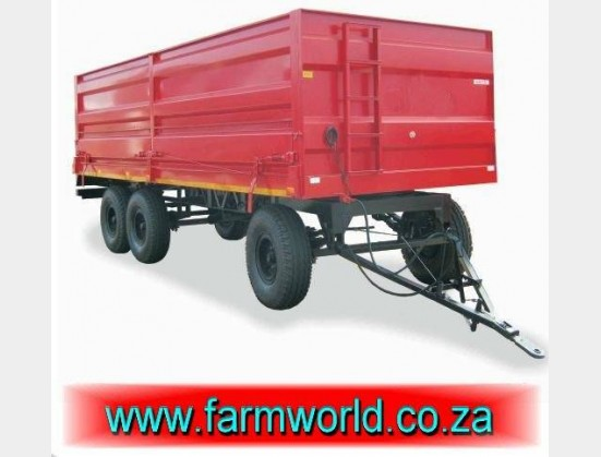 S1637 New BPI 20 Ton 4 Wheel Low Speed Side Tip Trailer / 20 Ton Lae Spoed Kant Tip Sleepwa (000A100A06)
