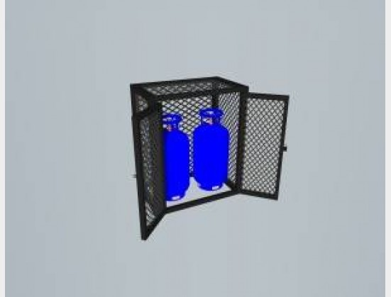 S1913 New AJ StaalWerke Double Gas Cages All Sizes (GC9DD)