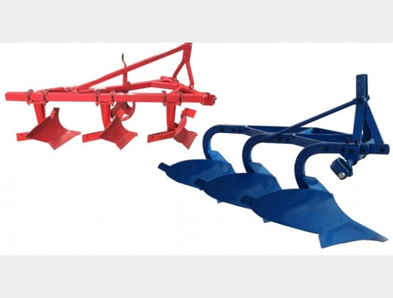Red RY Agri 3 Furrow Light Duty Frame Plough New Implement