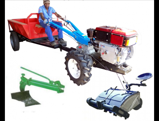 Blue RY Agri Walk Behind Rotavator With Seat New Implement