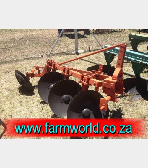 S407 Pre-Owned 3 Disc Frame Plough / 3 Skottel Raam Ploeg