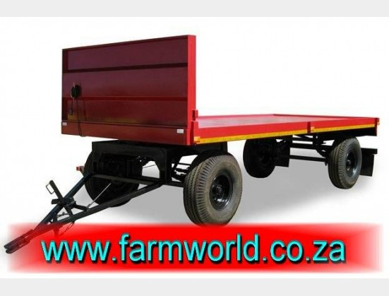 S466 New BPI 10 Ton Flatbed 4 Wheel Trailer / 10 Ton Platbak Sleepwa (000A100A03)